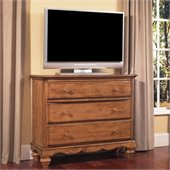 Hillsdale Hamptons 5 Drawer TV Dresser in Weathered Pine