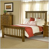 Hillsdale Outback Slat Bed in Distressed Chestnut