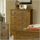 Hillsdale Outback 6 Drawer Chest in Distressed Chestnut
