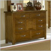 Hillsdale Outback Double Dresser in Distressed Chestnut