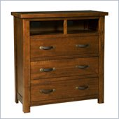 Hillsdale Outback 3 Drawer TV Chest in Distressed Chestnut