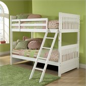 Hillsdale Lauren Twin over Full Bunk Bed in White