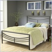 Hillsdale Kingsfort Bed in Silver Pewter