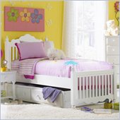 Hillsdale Lauren Twin Post Bed with Trundle in White
