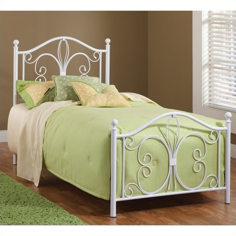 Hillsdale Ruby Bed in Textured White-Twin