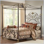 Hillsdale Stanton Canopy Bed in Old Brown Highlight