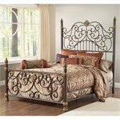Hillsdale Stanton Bed in Old Brown Highlight