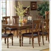 Hillsdale Arlington 5 Piece Dining Set in Weathered Brown