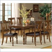 Hillsdale Arlington 7 Piece Dining Set in Weathered Brown