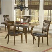 Hillsdale Arbor Hill 5 Piece Dining Set in Colonial Chestnut 