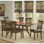 Hillsdale Arbor Hill 7 Piece Dining Set in Colonial Chestnut