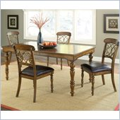 Hillsdale Bergamo 5 Piece Dining Set in Weathered Brown