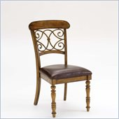 Hillsdale Bergamo Dining Chairs in Weathered Brown (set of 2)