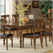Hillsdale Arlington Extension Dining Table in Weathered Brown