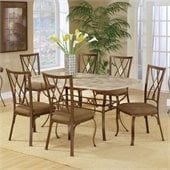 Hillsdale Brookside 7 Piece Dining Set with Diamond Back Chairs