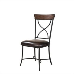 Hillsdale Cameron X-Back Dining Chair in Chestnut Brown (set of 2)