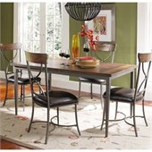 Hillsdale Cameron 5 Piece Rectangle Dining Set with X Back Chairs