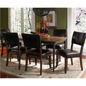 Hillsdale Cameron 7 Piece Rectangle Dining Set with Parson Chairs