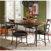 Hillsdale Cameron 5 Pc Rectangle Wood Dining Set w/ Ladder Back Chairs