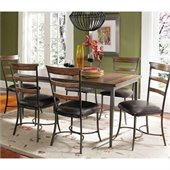 Hillsdale Cameron 7 Pc Rectangle Wood Dining Set w/ Ladder Back Chairs