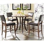 Hillsdale Cameron 5 Pc Counter Height Round Pub Set w/ Parson Stools