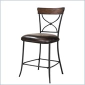 Hillsdale Cameron X-Back Stools in Chestnut Brown (set of 2)