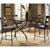 Hillsdale Cameron 5 Pc Counter Height Wood Dining Set w/ Ladder Stools