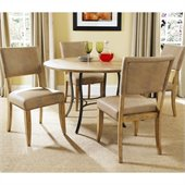 Hillsdale Charleston 5 Pc Round Wood Top Dining Set w/ Parsons Chairs