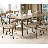 Hillsdale Charleston 7 Piece Rectangle Dining Set with X Back Chairs