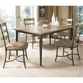 Hillsdale Charleston 5 Pc Rectangle Wood Dining Set with Ladder Chairs