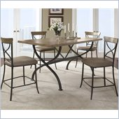 Hillsdale Charleston 5 Pc Counter Height Dining Set w/ X Back Stools