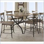Hillsdale Charleston 7 Pc Counter Height Dining Set w/ X Back Stools
