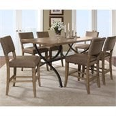 Hillsdale Charleston 7 Pc Counter Height Dining Set w/ Parson Stools
