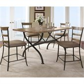 Hillsdale Charleston 5 Pc Counter Height Dining Set w/ Ladder Stools