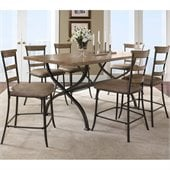 Hillsdale Charleston 7 Pc Counter Height Dining Set w/ Ladder Stools