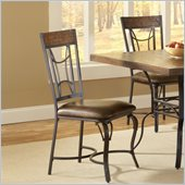Hillsdale Granada Dining Chair in Dark Chestnut/Brown (set of 2)