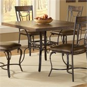 Hillsdale Granada Square Dining Table in Dark Chestnut/Brown