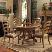 Hillsdale Hamptons 5 Piece Dining Set in Weathered Pine