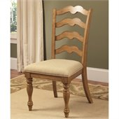 Hillsdale Hamptons Side Chair in Weathered Pine (set of 2)