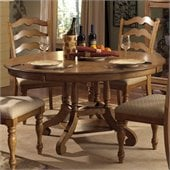 Hillsdale Hamptons Round Dining Table in Weathered Pine