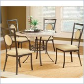 Hillsdale Harbour Point 5 Pc Round Dining Set with Metal Oval Chair