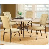 Hillsdale Harbour Point 5 Pc Round Dining Set with Parson Chair