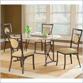 Hillsdale Harbour Point 5 Pc Octagon Dining Set with Metal Oval Chair