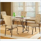 Hillsdale Harbour Point 5 Pc Octagon Dining Set with Parson Chair