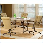 Hillsdale Harbour Point 5 Pc Octagon Dining Set with Caster Chair 
