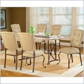Hillsdale Harbour Point 7 Pc Octagon Dining Set with Parson Chair