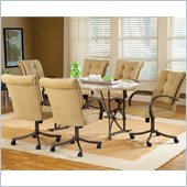Hillsdale Harbour Point 7 Pc Octagon Dining Set with Caster Chair 