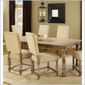 Hillsdale Hartland 5 Piece Dining Set with 4 Side Chairs in Light Oak