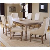 Hillsdale Hartland 7 Piece Dining Set in Light Oak