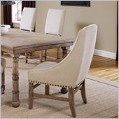 Hillsdale Hartland Arm Dining Chair in Light Washed Oak